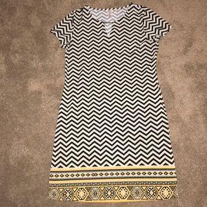 Tacera Dress- Chevron- Silky soft